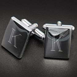 Personalized Polished Rectangle Cuff Links
