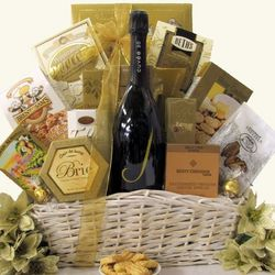 Simply Chic J Vineyard Cuvee 20 Brut Champagne Gift Basket