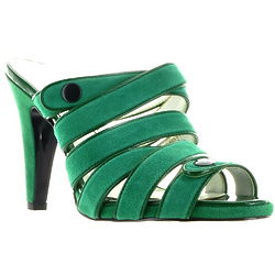 Green Suede Sandal-Style Shoes