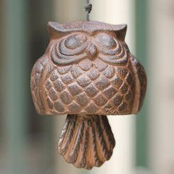 Cast Aluminum Owl Windbell