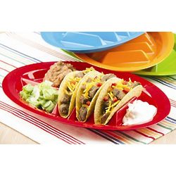 Multi-Colored Divider Taco Plates