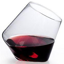 Cupa-Vino Stemless Tilted Wine Glasses
