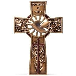 Bronze Finish Confirmation Wall Cross
