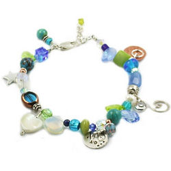 Forty and Fantastic Blue Birthday Bracelet