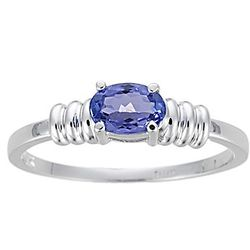 Tanzanite Ring in 14K White Gold