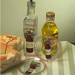 Red Wine Oil Bottle and Dipping Dish Favor