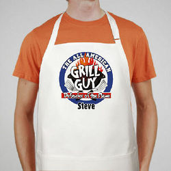 Personalized All American Grill Guy BBQ Apron