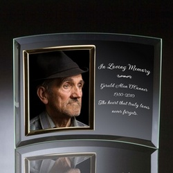 memorial glass vertical 5x7 photo frame