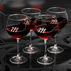 Personalized Red Wine Quartet