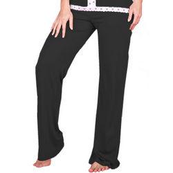 Sophie Black Womens Loungewear Pajama Pants