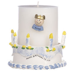 Personalized Boy Birthday Candle Holder
