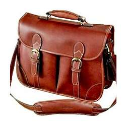 Leather Compact Briefcase Courier Bag