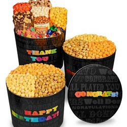 Say It In Color Popcorn Tins Assortments