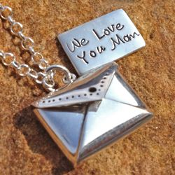 Love Notes for Mom Sterling Silver Necklace