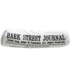 Bark Street Journal Plush Dog Toy