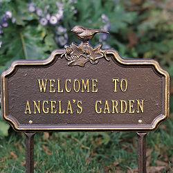 Custom Songbird Plaque or Garden Stake