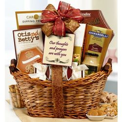 Our Thoughts and Prayers Are with You Sympathy Gift Basket