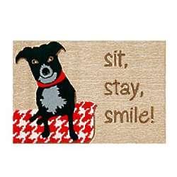 Sit Stay Smile Indoor Outdoor Rug
