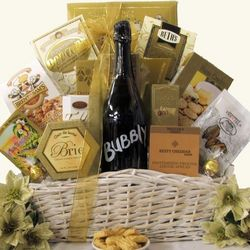 Simply Chic Bubbly Sparkling Wine Gift Basket