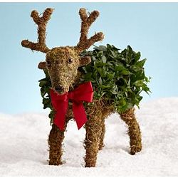 Holiday Reindeer Topiary