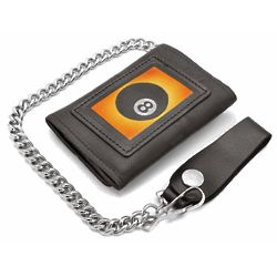8 Ball Trifold Wallet with Chain