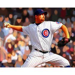 Ryan Dempster Chicago Cubs Pop Art Print
