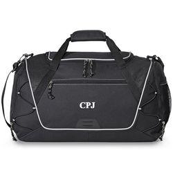 Sports Personalized Black Duffel Bag
