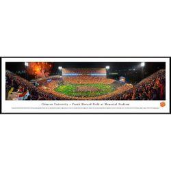 Clemson Football Stadium 50 Yard Line Panorama Framed Print