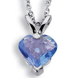 Tanzanite Heart Shaped Pendant in 14K Gold