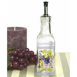 Small Oil Bottle with Grapes Design Favor