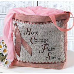 Breast Cancer Awareness Tapestry Tote