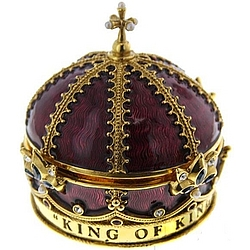 King of Kings Lord of Lords Crown Rosary Box