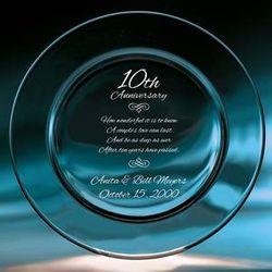 Wedding Anniversary Crystal Plate
