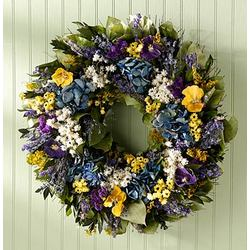 Pansy Garden Wreath