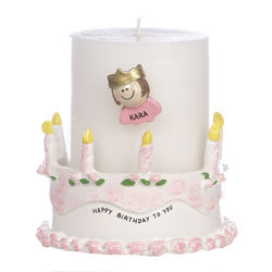 Personalized Birthday Candle Holder Girl