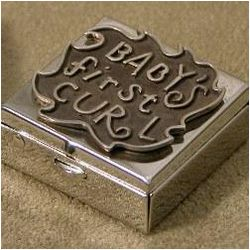 Baby's First Curl Pewter Box