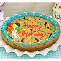 Personalized Birthday Balloon Cookie Cake