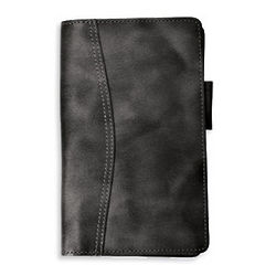 Pocket Distressed Leather Open Wallet