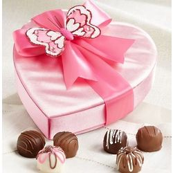 Butterfly Heart Gift Box with Truffles