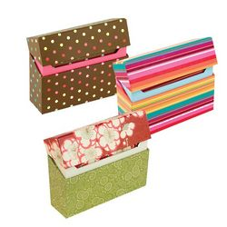Trifold Note Cards with Hinged Box