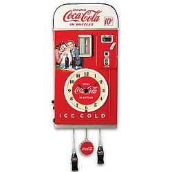 Coca-Cola Time For Refreshment Vending Machine Cuckoo Clock