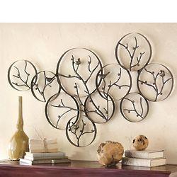 Metal Bird and Branch Wall Art