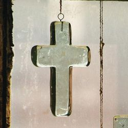 Glass Cross Suncatcher