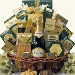 Gourmet Sophisticate Cook's California Champagne Gift Basket