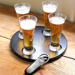 Personalized Beer Flight Sampler with Bottle Opener