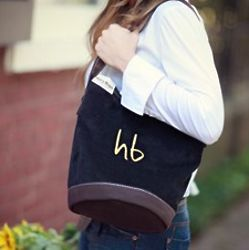 Personalized Charlie Corduroy Tote