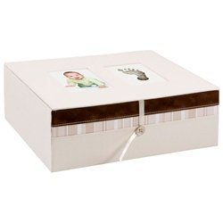 Baby Handprint/Footprint Ivory Keepsake Box