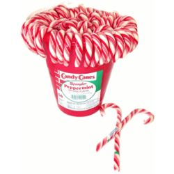 Traditional Peppermint Candy Canes Tub