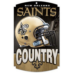 New Orleans Saints Country Wood Sign
