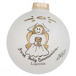 1st Communion Girl Personalized Christmas Ornament